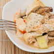 Mixed seafood cuisine — Stock Photo