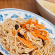 Chinese prosperity noodles — Stock Photo