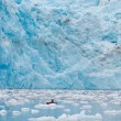 Stock Photo: Kayaking at glacier