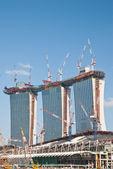 Construction of Marina Bay Sands — Stock Photo