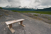 Bench for resting — Stock Photo
