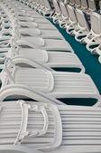 White beach chairs — Stock Photo