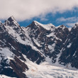 Closeup of snowy mountains — Stok fotoğraf