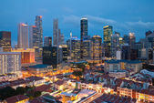 Night view of Singapore city — Stock Photo