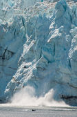 Calving view of huge glacier — Stock Photo