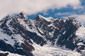 Closeup of snowy mountains — Stock Photo