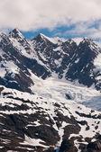 Närbild av bergstoppar — Stockfoto