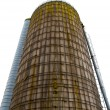 Big metallic silo for storage — Stock Photo