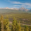 Panoramic view of mountain vistas — Stock Photo