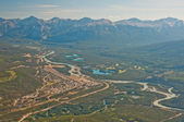 Aerial shot of Banff city — Stock Photo