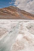 River on icefield — Stock Photo