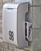 Modern mailbox also suitable for newspapers — Stock Photo