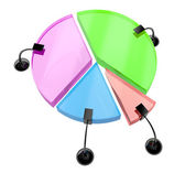 A colorful pie chart- graph. — Stock Photo
