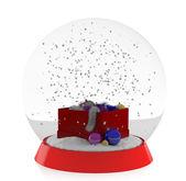 クリスマスの装飾と雪のボール — ストック写真