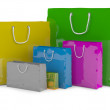 Royalty-Free Stock Photo: Colourful paper shopping bags