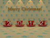 Christmas and New Year on Christmas background — Stock Photo