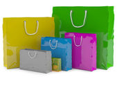 Colourful paper shopping bags — Stock Photo