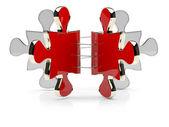 3D puzzle. Brochure concept — Стоковое фото