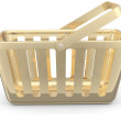 Gold shop basket — 图库照片