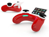Red video game controller — Stock Photo