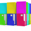 Folders. Colorful 3D illustration — Stock Photo #7686508