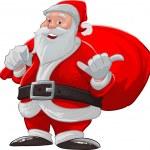 Hang loose santa claus — Stock Photo