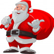 Hang loose santa claus - Stock Vector