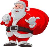 Hang loose santa claus — Vetorial Stock