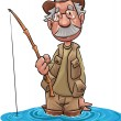 Vector de stock : Old fisher