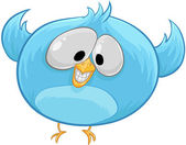 Pájaro azul — Vector de stock