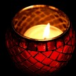 Stock Photo: Close up of burning candle