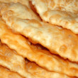 Close up of pie named cheburek — Zdjęcie stockowe