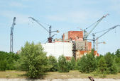 Chernobyl nuclear power station, abandoned reactor 5-6 — Stock Photo