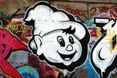 Graffiti in the big city — Stock Photo