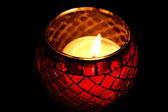 Close up of burning candle — Stock Photo
