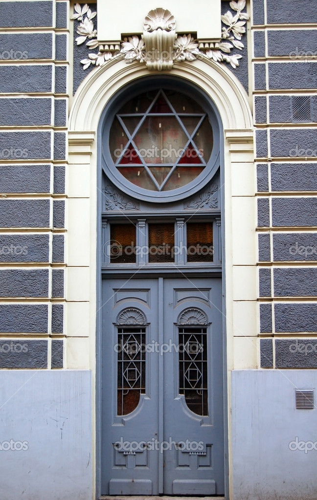 Door of old jewish house  Stock Photo #6889847