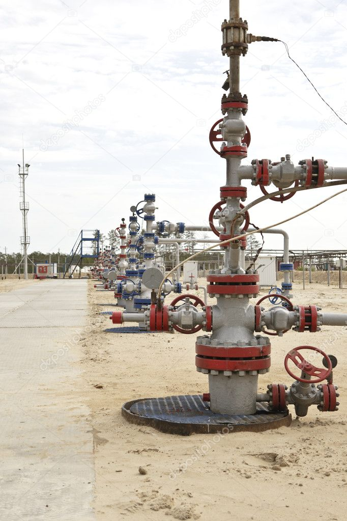 Wellhead in the oil and gas industry — Stock Photo #6835367