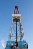 óleo de perfuração na sibéria ocidental — Foto Stock