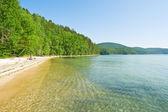 Azure bay in Baikal — Stock Photo