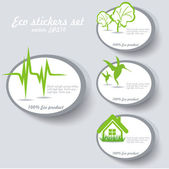 Eco sticker collection — Vecteur