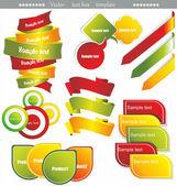 Various discount tags & labels — Vector de stock