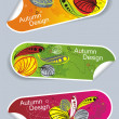 Vector de stock : Autumn stickers