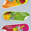 Autumn stickers — Image vectorielle