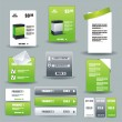 Collection Of Website Elements — Vector de stock #7131346