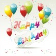 Happy birthday card — Image vectorielle