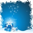 Christmas gifts vector image — Vector de stock