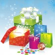 Christmas gifts vector image — Stock Vector