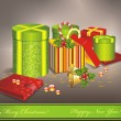 Christmas gifts vector image — Stock vektor