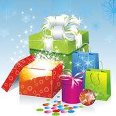 Vánoční dárky vektorový obrázek — Stock vektor