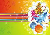 Cartão de natal. vector — Vetorial Stock